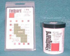 And with specially designed Fleetguard coolant test strips and