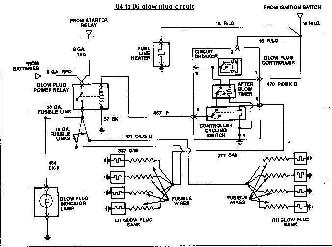 glow2 ford diesel 6 9 7 3 idi 7.3L Glow Plug Wiring Diagram at mifinder.co